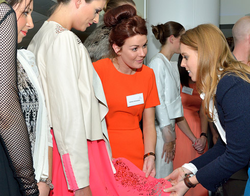Her Royal Highness meets the student fashion and costume designs.