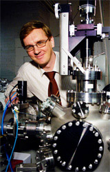 Professor Kai Nordlund of the University of Helsinki who verified the research of the University of Huddersfield's Dr Graeme Greaves into gold nanoparticles sputtering yield.