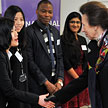 HRH The Princess Royal meeting with the international students