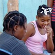 East Caribbean woman and girl