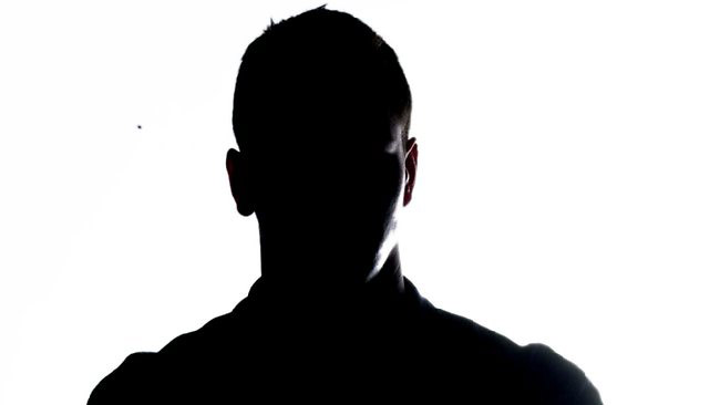 Man in silhouette