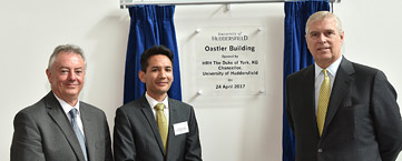 HRH The Duke of York officially opened the University's new Oastler Building