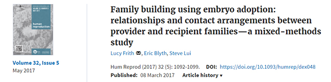 Family building using embyro adoption book