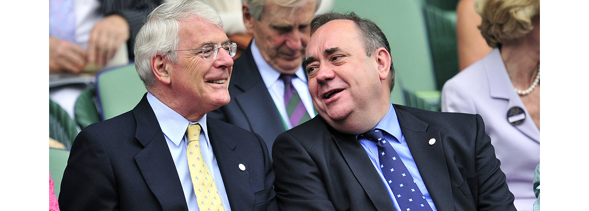 Former Prime Minister John Major with former SNP Leader Alex Salmond in 2011