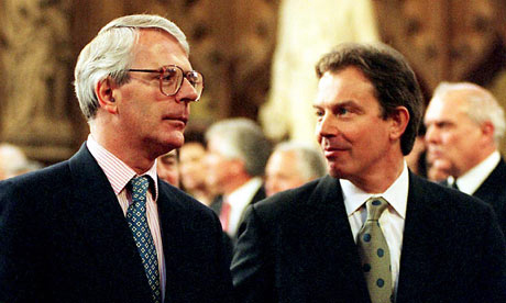 John Major with Former Labour Leader Tony Blaire in 1997
