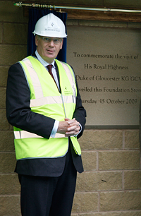 His Royal Highness The Duke of Gloucester unveils the University's new Business School foundation stone
