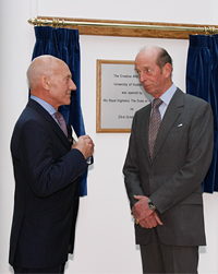 His Royal Highness The Duke of Kent opens the University's new Creative Arts Building